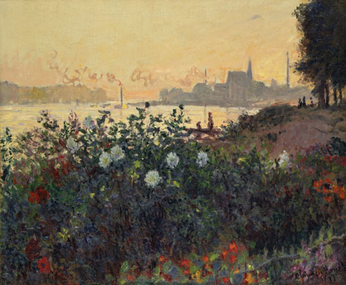 クロード・モネ《花咲く堤、アルジャントゥイユ》